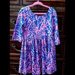 Lilly Pulitzer Cotton Dress 3/4 Sleeves Small
